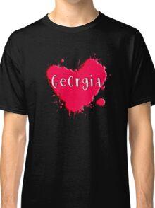 Georgia Splash Heart Georgia Classic T-Shirt