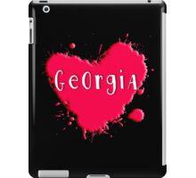 Georgia Splash Heart Georgia iPad Case/Skin