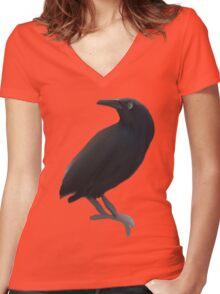 Black Bird Women's Fitted V-Neck T-Shirt