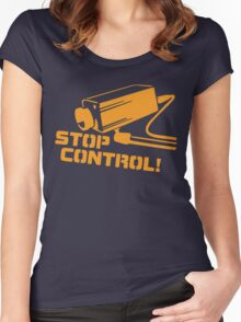 Stop Control  Women's Fitted Scoop T-Shirt