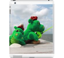 Loch Ness monster on vacation iPad Case/Skin
