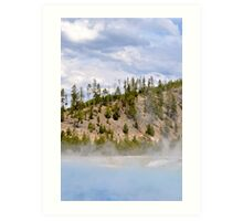 Excelsior Spring Yellowstone Art Print