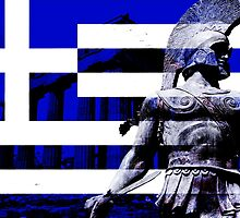 Greek flag Warrior  by 827  Photography