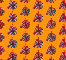 Penny-Farthing Bicycle with Kaleidoscope Wheels by Buckwhite