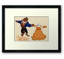 Baymax and the Beast Framed Print