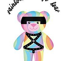 Rainbow Bondage Bear Classic by YOSHFRIDAY