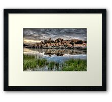 Willow Rock Twice Framed Print