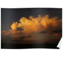 Sweeping golden clouds in Wakarusa Poster