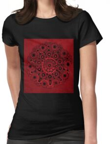 Doily Joy Mandala- Deep Roots Womens Fitted T-Shirt