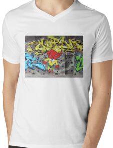 Superbunny Graffiti Vienna Austria Mens V-Neck T-Shirt