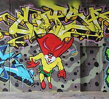Superbunny Graffiti Vienna Austria by Mythos57