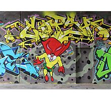 Superbunny Graffiti Vienna Austria Photographic Print