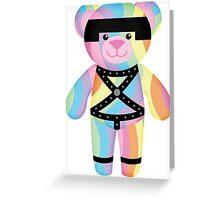 Rainbow Bondage Bear Classic 2.0 Greeting Card