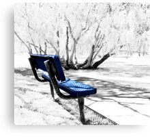 The Blue Bench Canvas Print