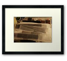 Old film, protected but discarded Framed Print