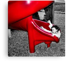The Red Slide Canvas Print