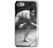 katie at the floodwall iPhone Case/Skin