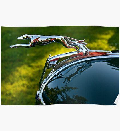 Ford V8 Hood Ornament Poster