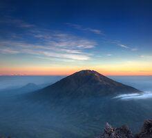 Sunrise from Mount Merapi 2 by DJBPhoto