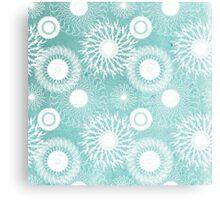 Vector Snowflake Pinwheel Flurry Canvas Print