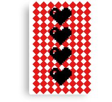 8 bit hearts  Canvas Print