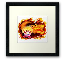 Fire Kirby Framed Print