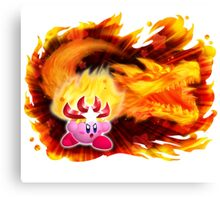 Fire Kirby Canvas Print