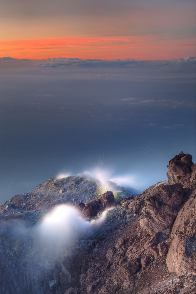 Venting volcano by DJBPhoto