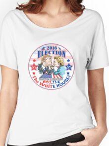 Donald Trump versus Hillary Clinton 2016 Women's Relaxed Fit T-Shirt