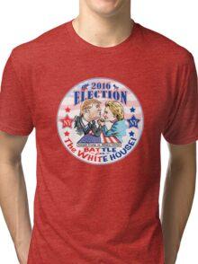 Donald Trump versus Hillary Clinton 2016 Tri-blend T-Shirt