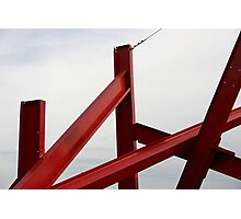 Red Metal Photographic Print