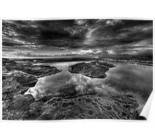 Nth Curl Curl Ocean Baths - HDR mono Poster