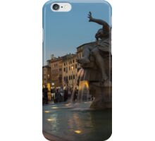 Evening On Piazza Navona Rome Italy - Fountain Of The Four Rivers iPhone Case/Skin