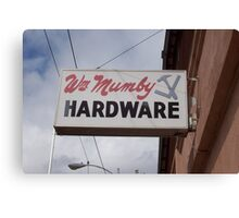 Hardware sign Canvas Print