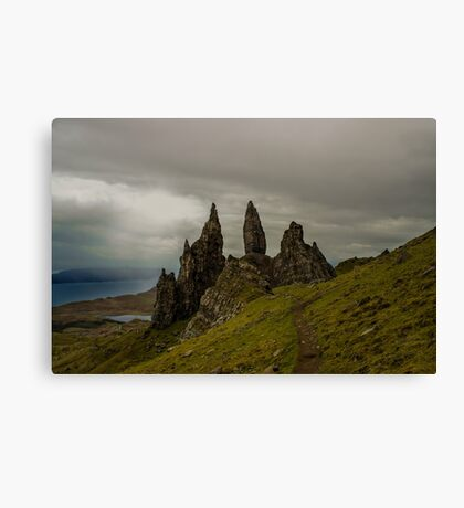The Man of Storr 2 Canvas Print