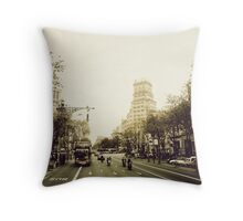 Barcelona Tour Throw Pillow