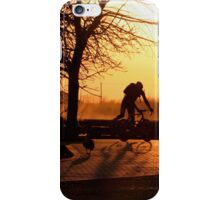 Early Morning Cyclist... iPhone Case/Skin