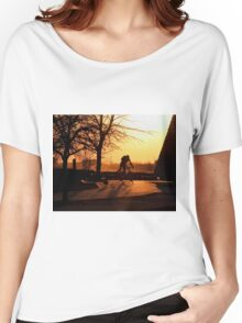 Early Morning Cyclist... Women's Relaxed Fit T-Shirt
