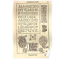 A Handbook Of Ornament With Three Hundred Plates Franz Sales Meyer 1896 0547 Ornamental Letters Romanesque Poster