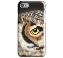 Horned Owl Portrait II iPhone Case/Skin