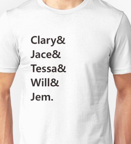 Clary & Jace & Tessa & Will & Jem Unisex T-Shirt