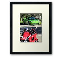 Boys and Girls and their Toys Framed Print