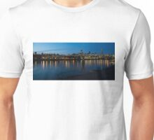 London Skyline Reflecting in the Thames River at Night Unisex T-Shirt