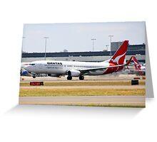 Qantas Boeing 737-800 Greeting Card
