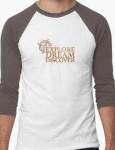 Explore. Dream. Discover. Men's Baseball ¾ T-Shirt