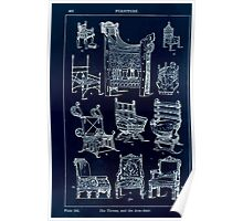 A Handbook Of Ornament With Three Hundred Plates Franz Sales Meyer 1896 0446 Furniture Throne Arm Chair Inverted Poster