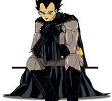 Vegeta as Batman by Persis Johnson