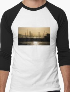 Naples, Italy Harbour Lights Men's Baseball ¾ T-Shirt