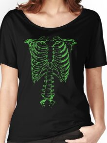 Green Ribcage  Women's Relaxed Fit T-Shirt