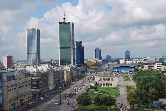 Aleje Jerozolimskie - Jerusalem Avenue in Warsaw, Poland by Lukasz Godlewski